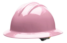 Bullard 33LPP  Pink Classic Series C33 HDPE Full Brim Hard Hat With 6 Point Pinlock Suspension, Accessory Slots And Absorbent Polyester Brow Pad
