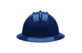 Bullard 33NBP  Navy Blue Classic Series C33 HDPE Full Brim Hard Hat With 6 Point Pinlock Suspension, Accessory Slots And Absorbent Polyester Brow Pad