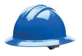 Bullard 33PBP  Pacific Blue Classic Series C33 HDPE Full Brim Hard Hat With 6 Point Pinlock Suspension, Accessory Slots And Absorbent Polyester Brow Pad