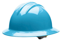 Bullard 33SKP  Sky Blue Classic Series C33 HDPE Full Brim Hard Hat With 6 Point Pinlock Suspension, Accessory Slots And Absorbent Polyester Brow Pad