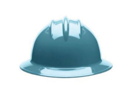 Bullard 33SLP  Slate Blue Classic Series C33 HDPE Full Brim Hard Hat With 6 Point Pinlock Suspension, Accessory Slots And Absorbent Polyester Brow Pad