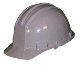 Bullard 51GGP  Gray Standard S51 HDPE Cap Style Hard Hat With 4 Point Pinlock Suspension, Accessory Slots And Absorbent Polyester Brow Pad