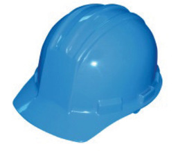 Bullard 51PBP  Pacific Blue Standard S51 HDPE Cap Style Hard Hat With 4 Point Pinlock Suspension, Accessory Slots And Absorbent Polyester Brow Pad
