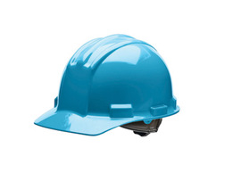 Bullard 51SKP  Sky Blue Standard S51 HDPE Cap Style Hard Hat With 4 Point Pinlock Suspension, Accessory Slots And Absorbent Polyester Brow Pad