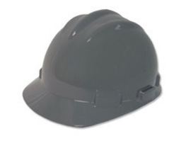 Bullard 61DGP  Gray Standard S61 HDPE Cap Style Hard Hat With 4 Point Pinlock Suspension, Accessory Slots And Absorbent Polyester Brow Pad