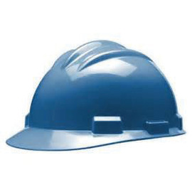 Bullard 61SKR  Blue Standard S61 HDPE Cap Style Hard Hat With 4 Point Ratchet Suspension, Accessory Slots And Absorbent Polyester Brow Pad
