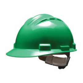 Bullard 62FGP  Forest Green Standard S62 HDPE Cap Style Hard Hat With 4 Point Pinlock Suspension, Accessory Slots And Absorbent Polyester Brow Pad
