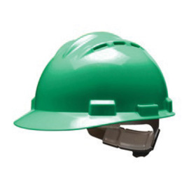 Bullard 62KGP  Kelly Green Standard S62 HDPE Cap Style Hard Hat With 4 Point Pinlock Suspension, Accessory Slots And Absorbent Polyester Brow Pad