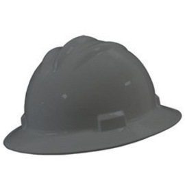 Bullard 71DGP  Dove Gray Standard S71 HDPE Full Brim Hard Hat With 4 Point Pinlock Suspension, Accessory Slots And Absorbent Polyester Brow Pad