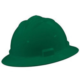 Bullard 71FGP  Forest Green Standard S71 HDPE Full Brim Hard Hat With 4 Point Pinlock Suspension, Accessory Slots And Absorbent Polyester Brow Pad