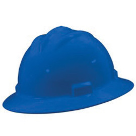 Bullard 71PBP  Pacific Blue Standard S71 HDPE Full Brim Hard Hat With 4 Point Pinlock Suspension, Accessory Slots And Absorbent Polyester Brow Pad