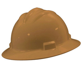 Bullard 71TNP  Tan Standard S71 HDPE Full Brim Hard Hat With 4 Point Pinlock Suspension, Accessory Slots And Absorbent Polyester Brow Pad