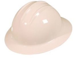 Bullard 9HWHP  White 911H Thermoplastic Full Brim Hard Hat With Self-Sizing 6 Point Pinlock Suspension And Sportek Brow Pad