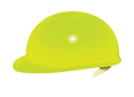 Bullard BCHYV  Hi-Viz Yellow HDPE Cap Style Bump Cap With Pinlock Suspension And Vinyl Brow Pad