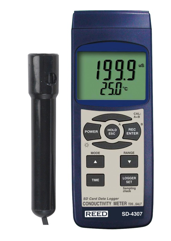 Parts Of Conductivity Meter : Reed sd tds salinity conductivity meter data
